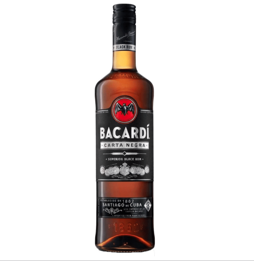Bacardi Carta Negra Rum - 70 cl